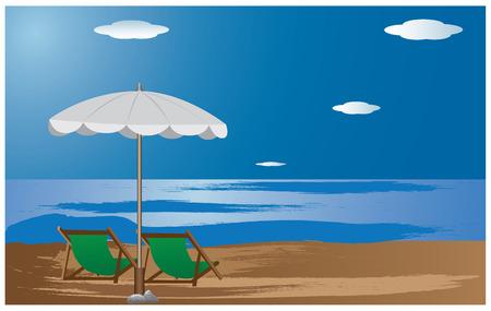 beautiful beach vector design Vector