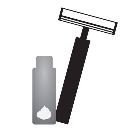 shaver set vector design