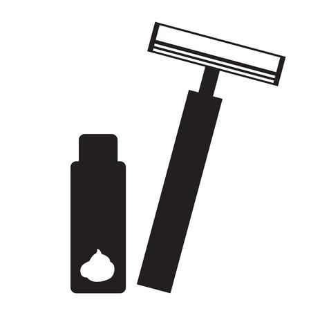 rasoir: rasoir sc�nographie de vecteur