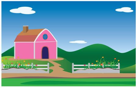 farm house: farm house vector design