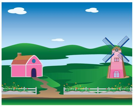 farm house: farm house vector design