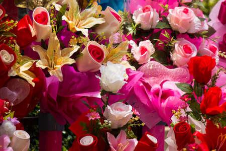 fake: beautiful fake flower Stock Photo