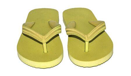 slipper: yellow slipper on white background
