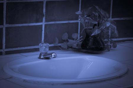 wash basin: wash basin in toilet