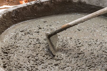 motor hoe: cement for construction