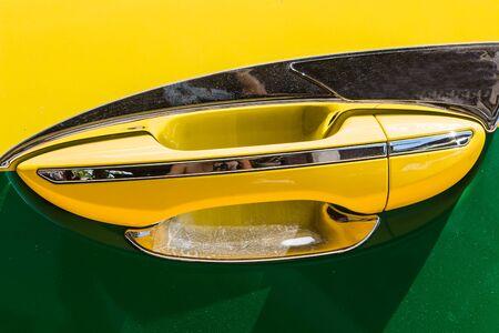 car door: car door opener Stock Photo