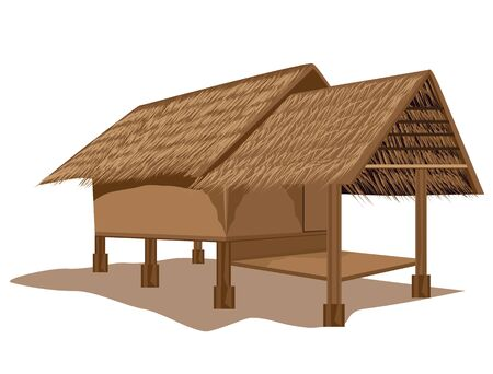 hut: straw hut vector design