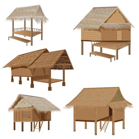 conception cabane de vecteur de paille