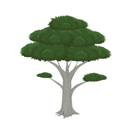 winter garden: tree vector design