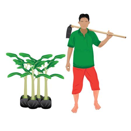 agriculturist shape vector design