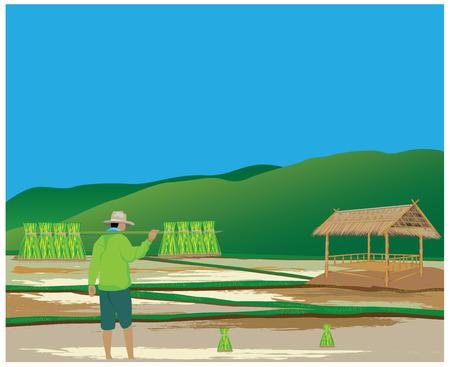 mode de vie de la conception du vecteur d'agriculteur