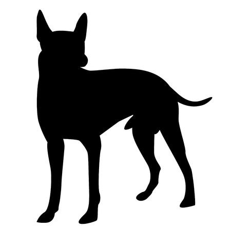 dog shape vector design
