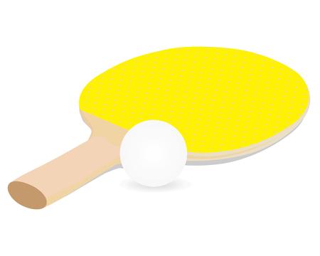 Tennis Table Bat equipment vector design Illustration