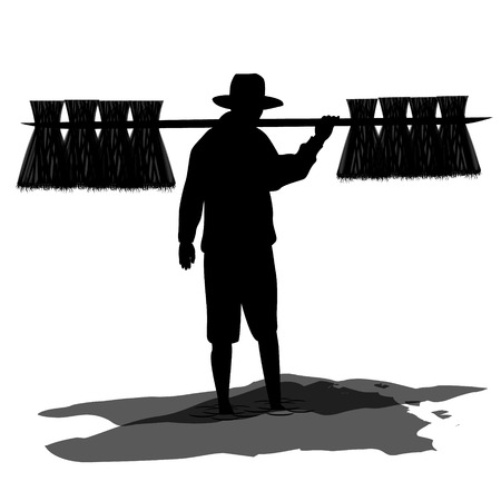 countryman: farmer shape vector design
