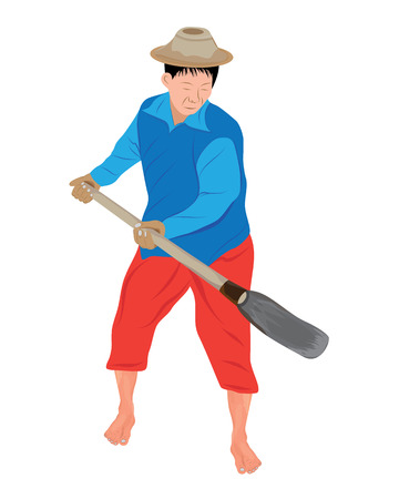 the farmer shape vector design