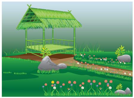 stockade: beautiful garden vector design