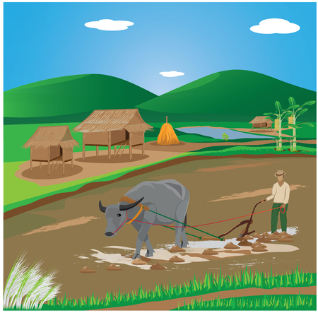 countryman: lifestyle of farmer vector design