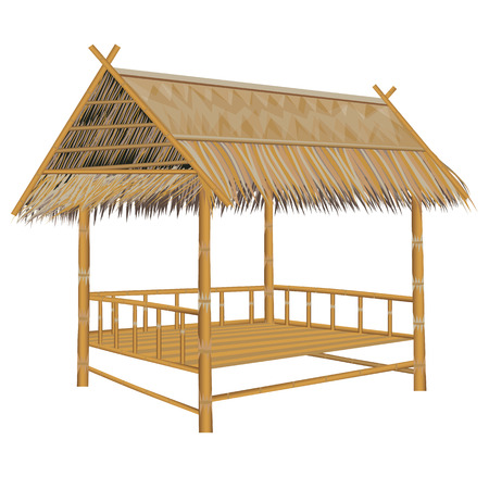 straw bamboo hut vector design
