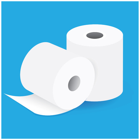 rolled up: paper roll vector design