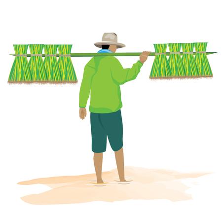 countryman: the farmer vector design Illustration
