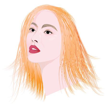 hairdos: lady face vector design Illustration