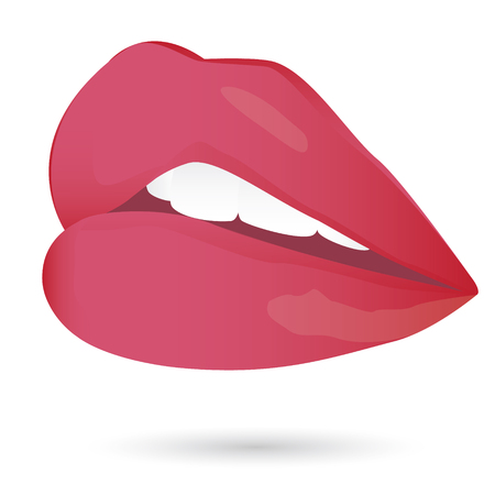 eyes wide open: lip vector design Illustration