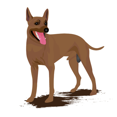 wagging: the dog vector design Illustration