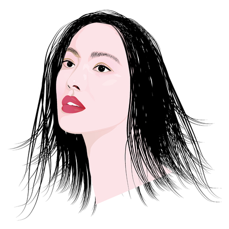 lady face vector design Illustration