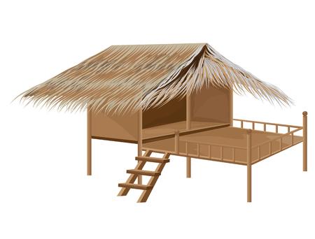 thatch: straw hut vector design