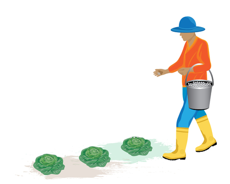 agriculturist: agriculturist manure vegetable vector design