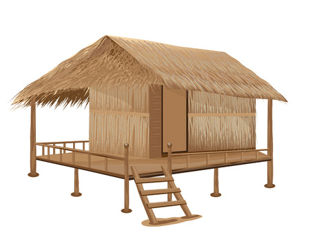 ember: straw hut vector design