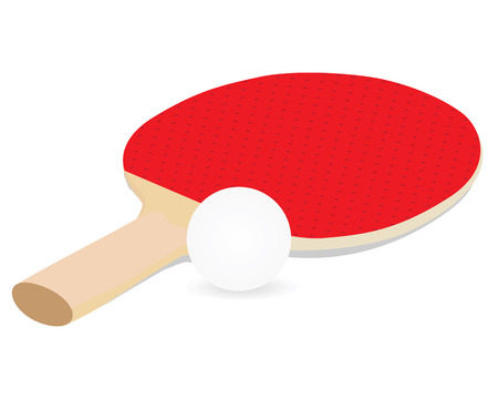 tennis table bat equipment vector design Illustration