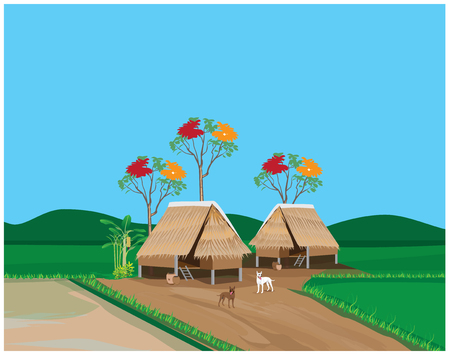 seeding: lifestyle of countryside vector design