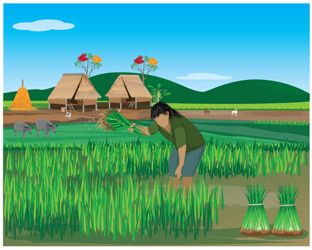 plow: lifestyle of farmer vector design
