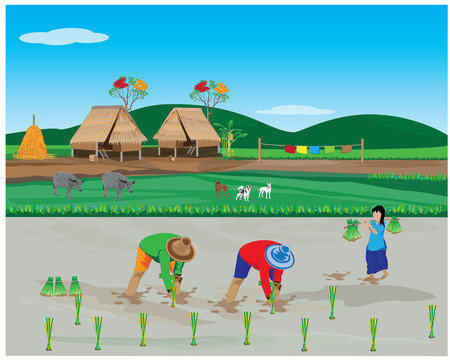 lifestyle of farmer vector design