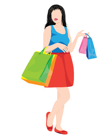 shopping lady: shopping lady vector design