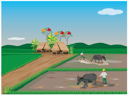 agriculturist: lifestyle of farmer vector design