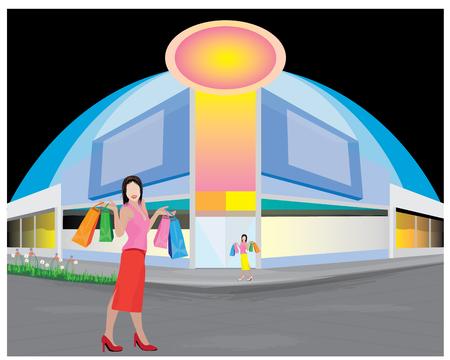 shopping lady vector design