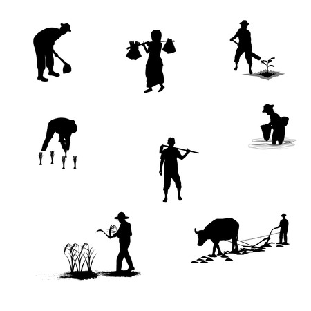 agriculturist: farmer shape vector design
