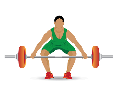 over weight: Weight-lifting sport vector design Illustration