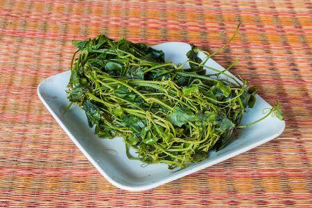 boiled coccinia grandis Stock Photo
