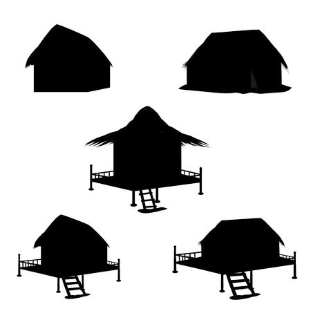 forme: conception de vecteur de forme cabane