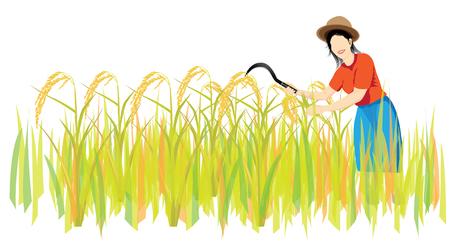 forme: la conception en forme de vecteur d'agriculteur Illustration