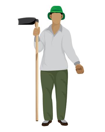 Agriculturist shape vector design. Illustration