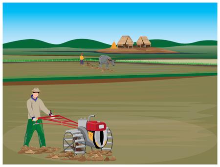 Lifestyle of farmer vector design.
