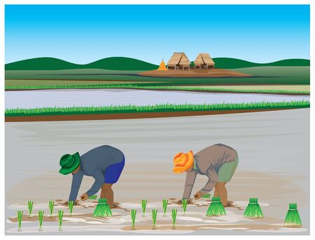 Lifestyle of farmer vector design.