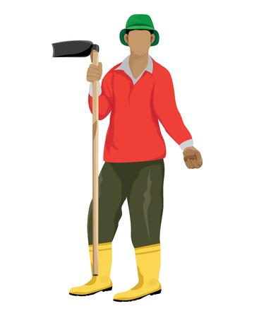forme: forme de conception de vecteur d'agriculteur.