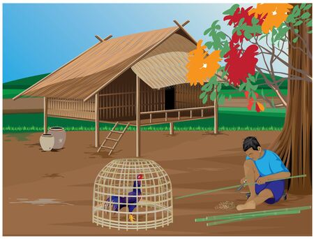 Lifestyle of countryside vector design