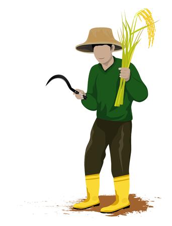 Farmer shape vector design.