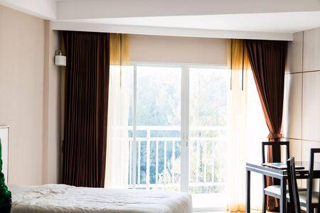 curtain at balcony